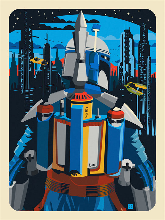 "Star Wars Boba Fett ""No Mistakes This Time"" Lithograph by Danny Haas"