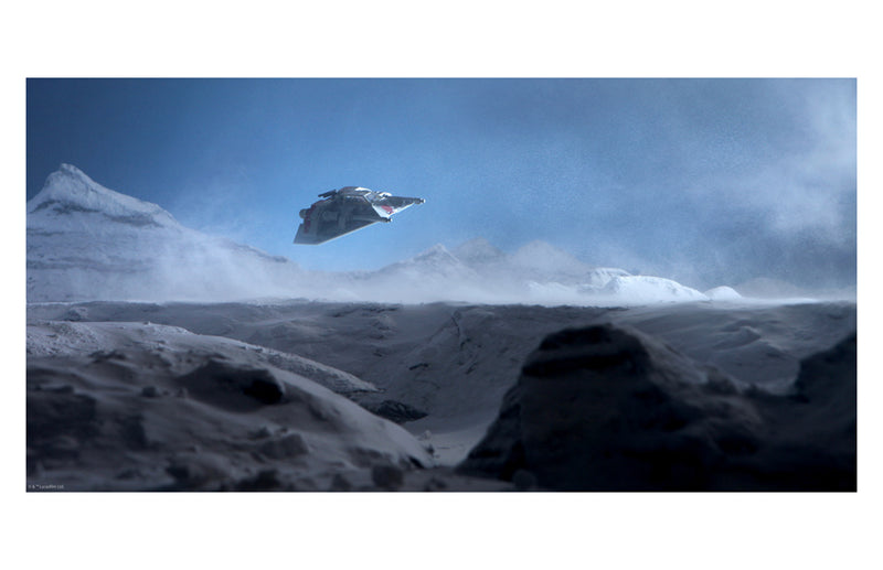 "Star Wars Empire Strikes Back Hoth ""En Route"" Giclee on Paper by Stephen Hayford"