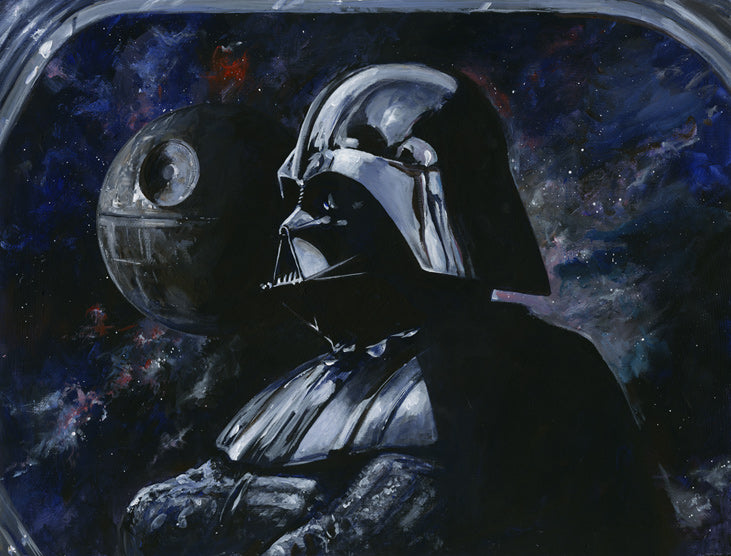 "Star Wars Darth Vader ""Sith Lord"" Giclee on Canvas by Kim Gromoll"