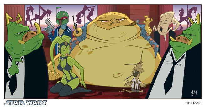 "Star Wars Jabba the Hutt ""The Don"" Giclee on Paper by Sam Fout"