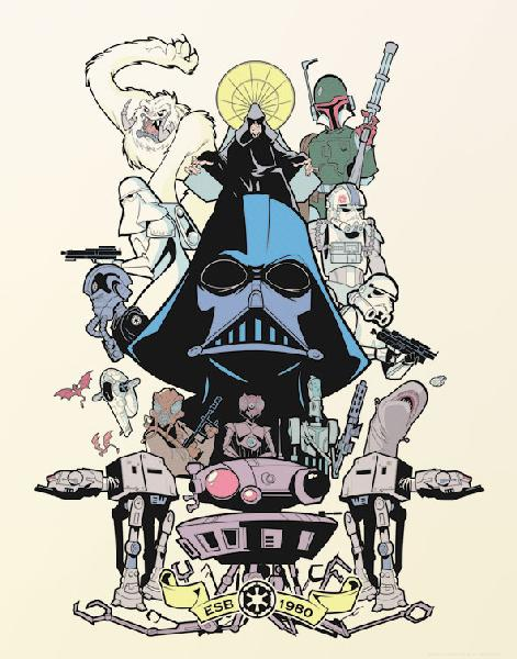"Star Wars Darth Vader ""Power & Glory Forever"" Giclee on Paper by Sam Fout"