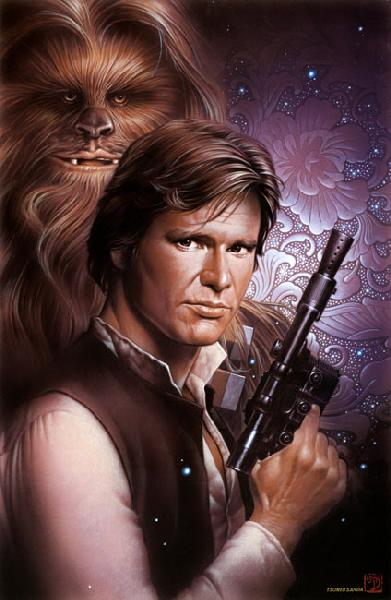 "Star Wars Han Solo and Chewbacca ""Han and Chewbacca"" Giclee on Paper by Tsuneo Sanda"