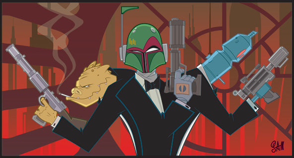 "Star Wars Boba Fett ""Vaders Angels"" Giclee on Paper by Sam Fout"