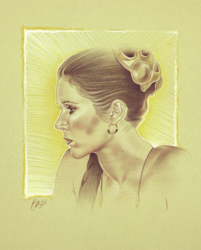 Star Wars Princess Leia Giclee on Canvas by Ben Curtis Jones