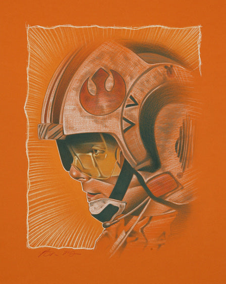 "Star Wars Luke Skywalker ""Like Beggar's Canyon"" Giclee on Canvas by Ben Curtis Jones"