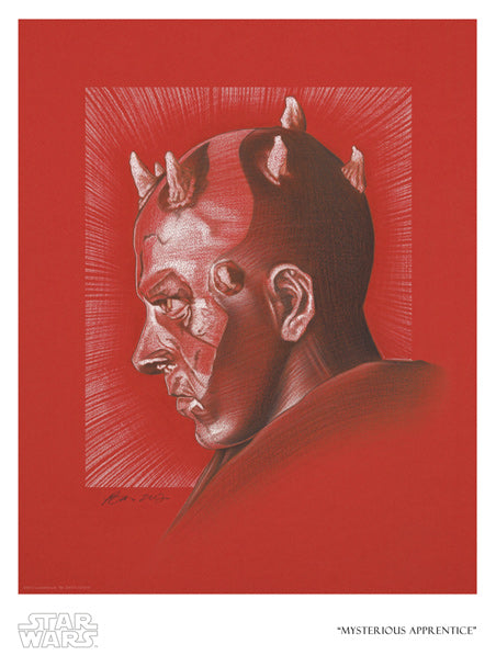 "Star Wars Darth Maul ""Mysterious Apprentice"" Giclee on Paper by Ben Curtis Jones"