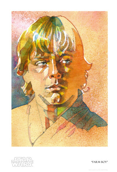 "Star Wars Luke Skywalker ""Farm Boy"" Giclee on Paper by Mark McHaley"