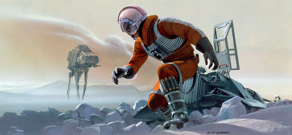 "Star Wars Empire Strikes Back ""Luke on Hoth"" Giclee on Canvas by Ralph McQuarrie"