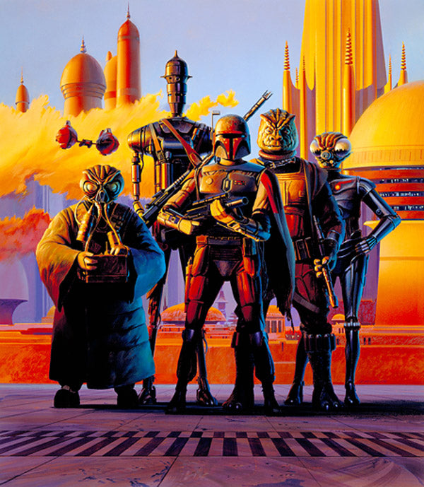 "Star Wars Bounty Hunters ""Scourge of the Galaxy"" Giclee on Paper by Ralph McQuarrie"