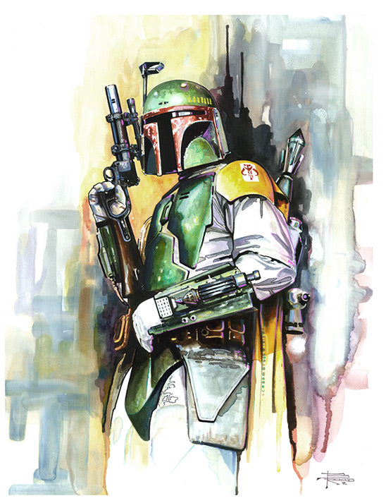 "Star Wars Boba Fett ""On the Hunt"" Giclee on Paper by Brian Rood"