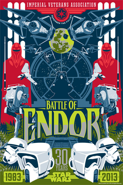 Star Wars Battle of Endor Variant Giclee on Paper by Mark Daniels