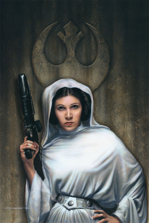 "Star Wars Princess Leia ""Rebel Princess"" Giclee on Paper by Jerry Vanderstelt"
