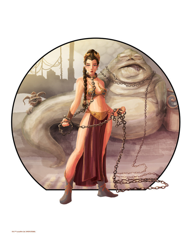 "Star Wars Princess Leia ""Imprisoned"" Lithograph by Penelope Gaylor"