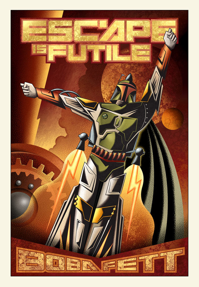"Star Wars Boba Fett ""Escape is Futile"" Giclee on Canvas (lg) by Mike Kungl"