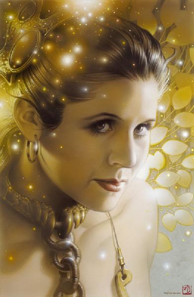 "Star Wars Princess Leia ""Lovely Leia"" Giclee on Paper by Tsuneo Sanda"