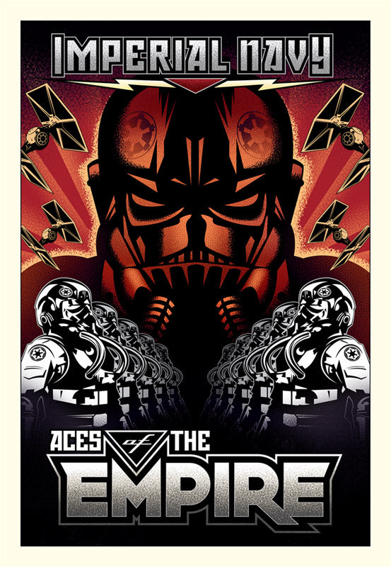 "Star Wars ""Aces of the Empire"" Giclee on Canvas by Mike Kungl"
