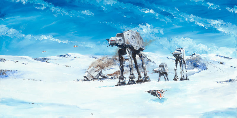 "Star Wars ""Imperial Walkers on the North Ridge"" Giclee on Canvas by Kim Gromoll"