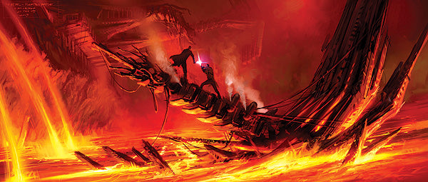Star Wars Mustafar Duel Giclee on Canvas by Ryan Church