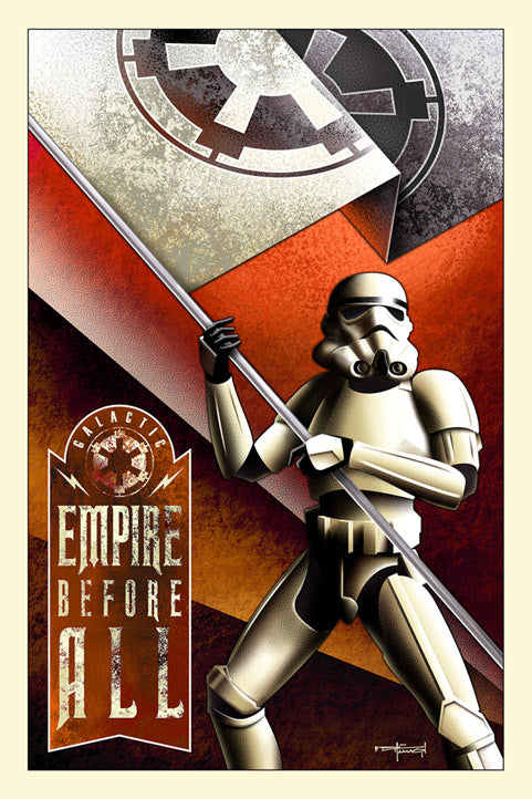 "Star Wars Stormtrooper ""Empire Before All"" Canvas Wrapped Print by Mike Kungl"