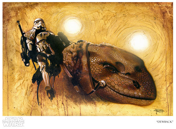 "Star Wars A New Hope ""Dewback"" Giclee on Paper by Brian Rood"