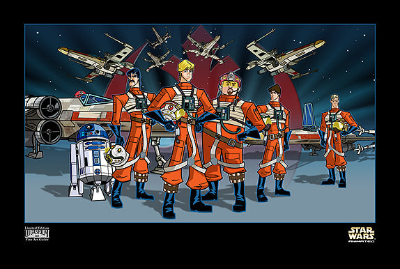 Star Wars Red Squadron Giclee on Paper by Peter Ferk