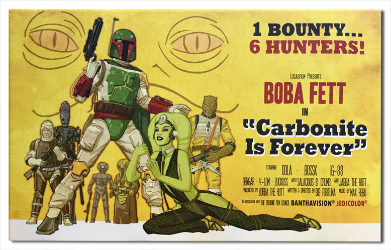 Star Wars Carbonite is Forever Canvas Wrapped Print by Cliff Chiang