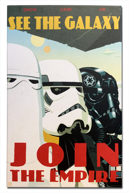 "Star Wars ""See the Galaxy"" Canvas Wrapped Print by Cliff Chiang"