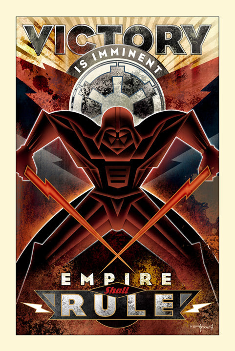 "Star Wars Darth Vader ""Victory Is Imminent"" Canvas Wrapped Print by Mike Kungl"