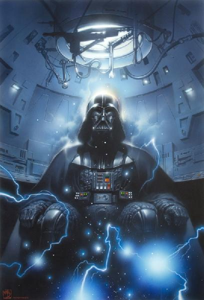 "Star Wars Darth Vader ""The Meditation Chamber""  Giclee on Paper by Tsuneo Sanda"
