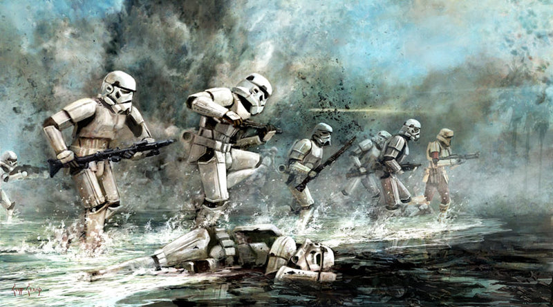 "Star Wars Rogue One ""Storming Troopers"" Lithograph by Cliff Cramp"