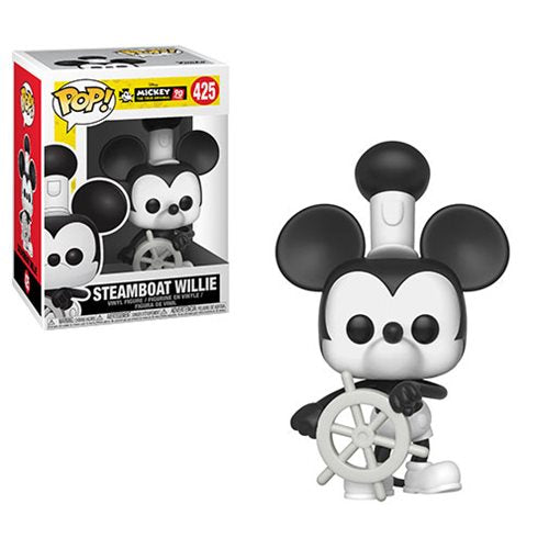 Preorder Mickey's 90th Steamboat Willie Pop! Vinyl Figure #425