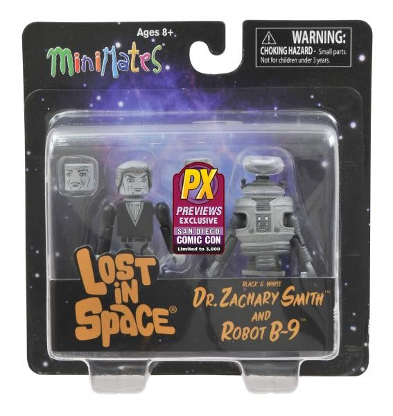 SDCC 2013 Comic Con Exclusive Lost in Space Black & White Minimate Figures