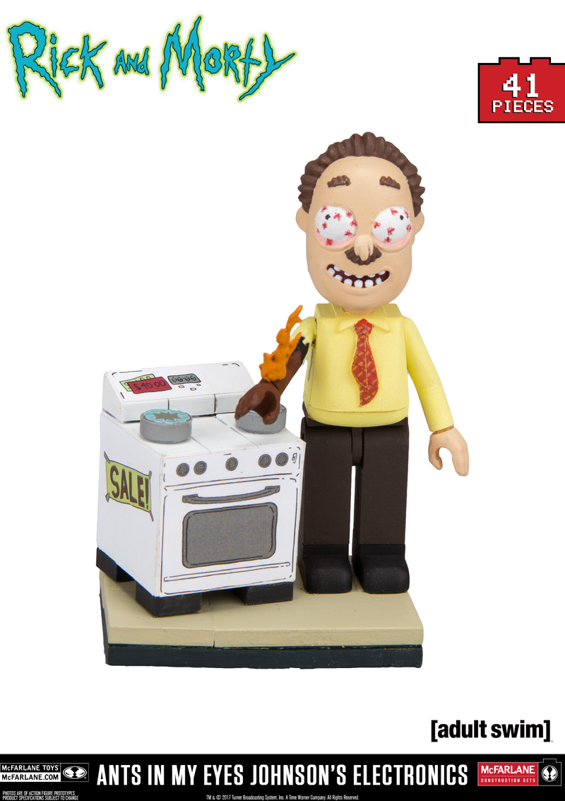 Rick and Morty Ants in My Eyes Johnsons's Electronics Micro Construction Set