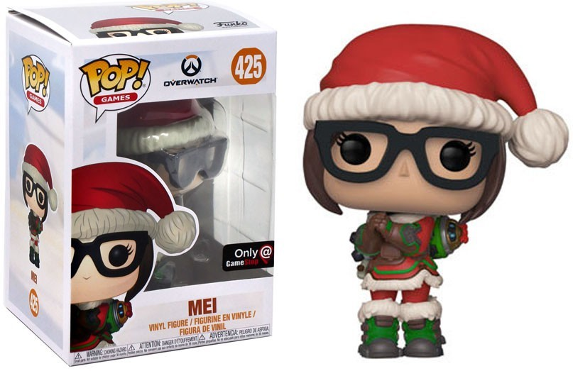 Overwatch Christmas Mei GameStop Exclusive POP! Vinyl Figure #425