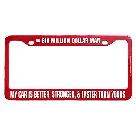 The Six Million Dollar Man License Plate