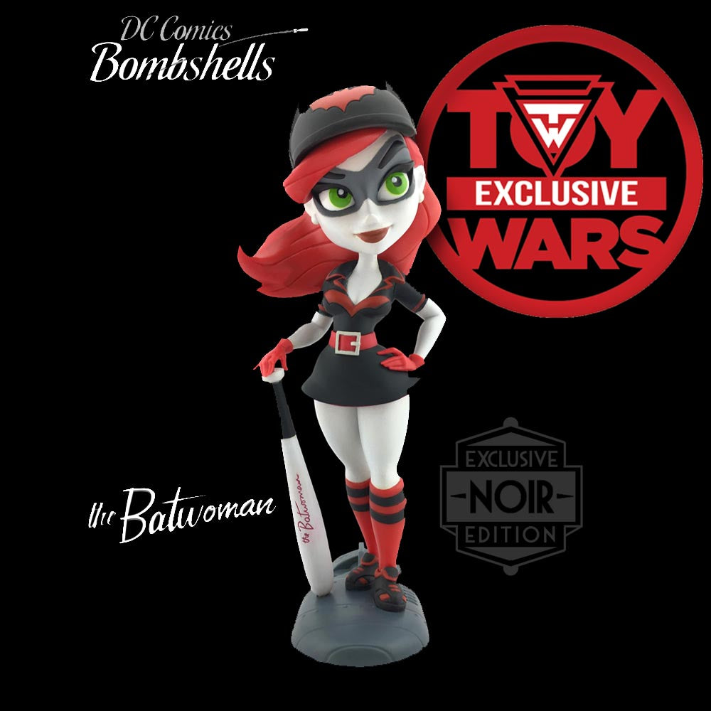 Toy Wars Exclusive DC Bombshells Noir Batwoman Series 2 Vinyl Figure Damaged Box