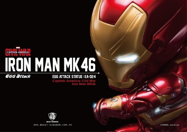 Iron Man Mark 46 Civil War Egg Attack Statue