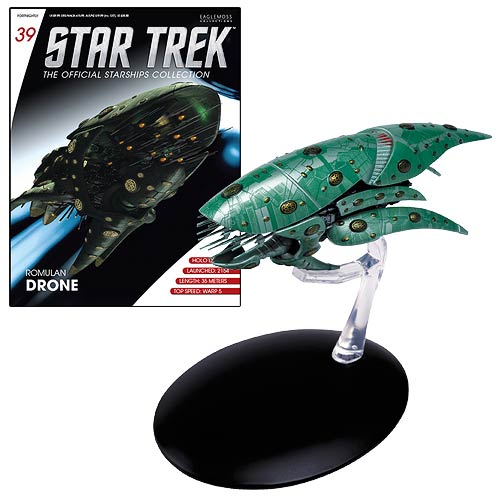 Star Trek Starships Romulan Drone Die-Cast Vehicle with Collector Magazine #39