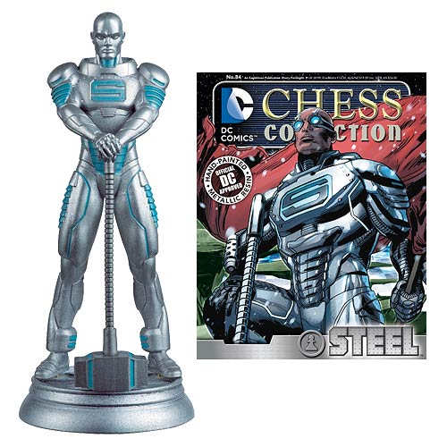 DC Superhero Steel White Pawn Chess Piece with Collector Magazine #84