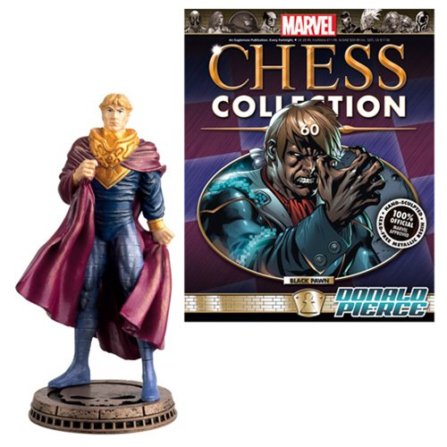 Marvel Donald Pierce Black Pawn Chess Piece with Magazine #60