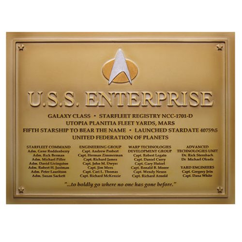 Star Trek U.S.S. Enterprise-D Dedication Plaque #4