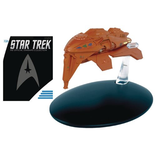 Star Trek Starships Kazon Warship Die-Cast Vehicle with Collector Magazine #106