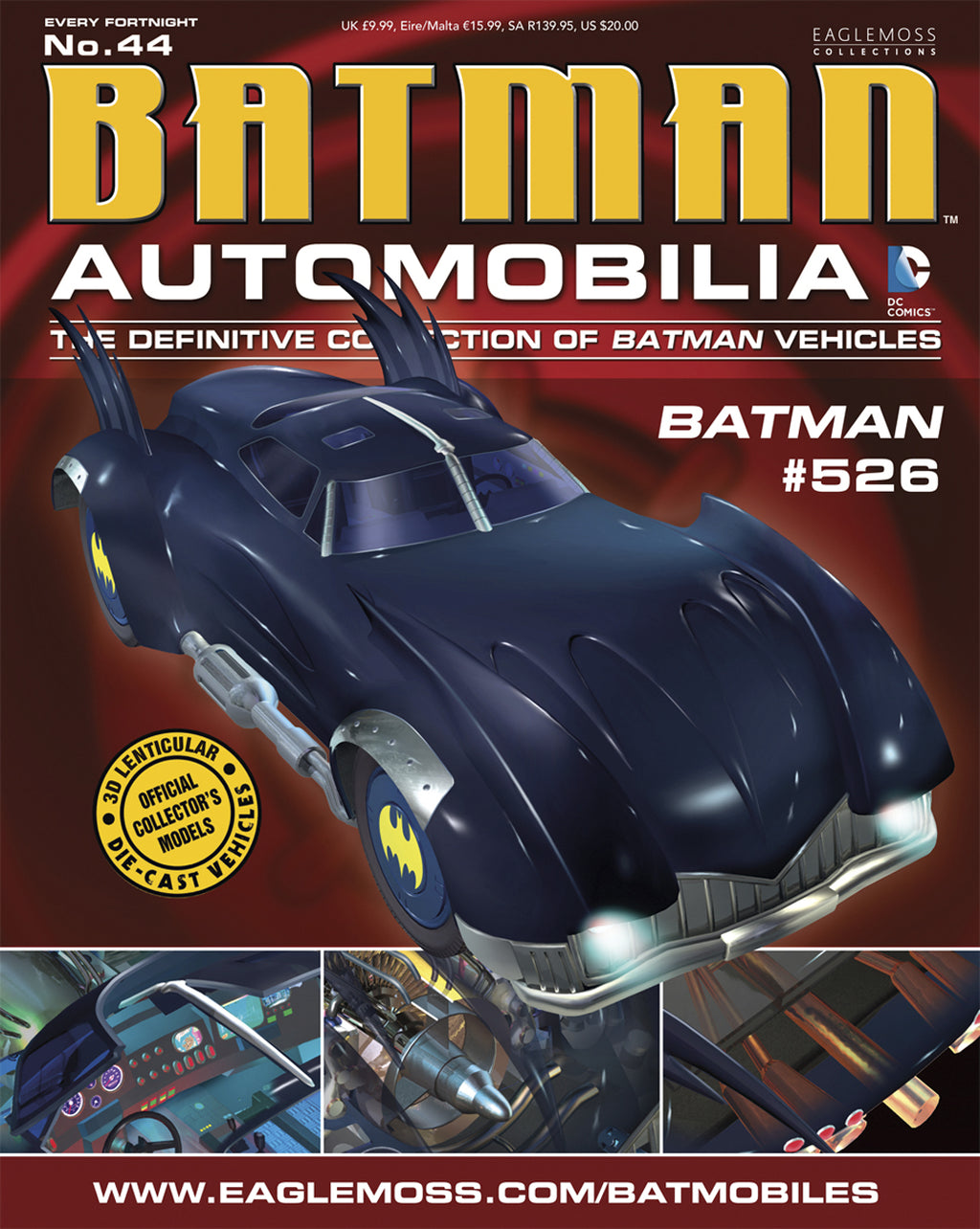 Batman Automobilia #44: #526 Batombile Die-Cast Vehicle with Collector Magazine