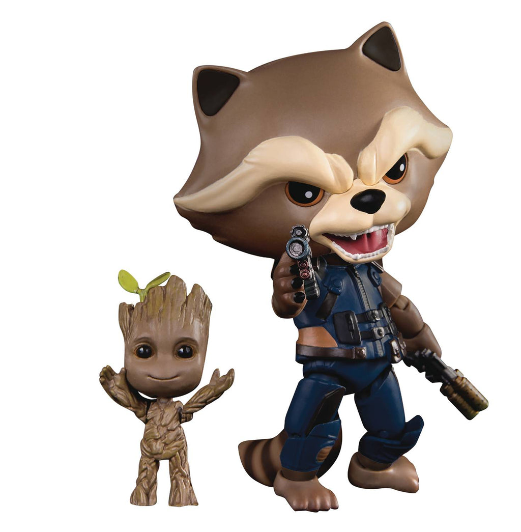Preorder December 2017 Guardians of the Galaxy 2 Rocket with Kid Groot Egg Attack Figure