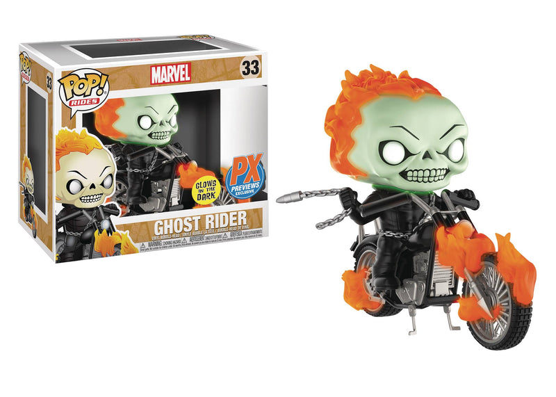 Marvel Classic Ghost Rider Glow in the Dark PX Exclusive POP! Ride