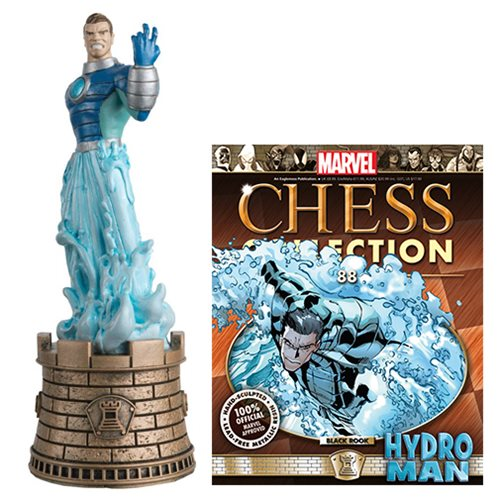 Marvel Amazing Spider-Man Hydroman Black Rook Chess Piece with Magazine #88 - Toy Wars - Eaglemoss