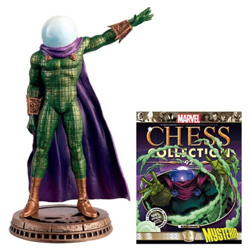 Amazing Spider-Man Mysterio Black Pawn Chess Piece with Collector Magazine #92 - Toy Wars - Eaglemoss