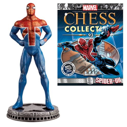 Amazing Spider-Man Spider-UK White Pawn Chess Piece with Magazine #93