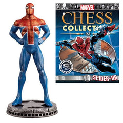 Amazing Spider-Man Spider-UK White Pawn Chess Piece with Magazine #93 - Toy Wars - Eaglemoss