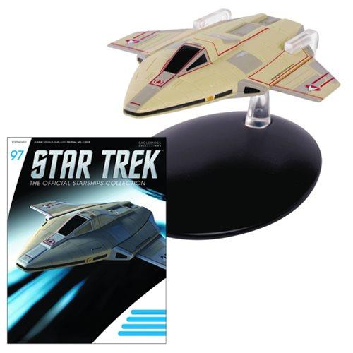 Preorder August 2017 Star Trek Starships Academy Fighter Die-Cast Metal Vehicle with Collector Magazine #97